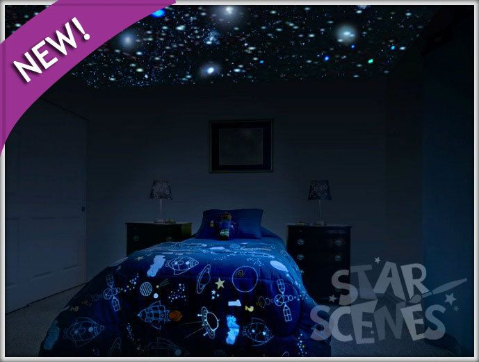 Glow In The Dark Removable Star Stickers Starscenes